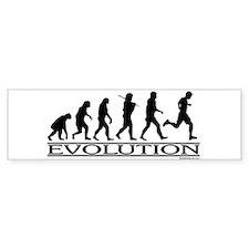 Evolution (Man Running) Bumper Bumper Sticker