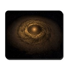 Dust disc around a star, computer artwor Mousepad