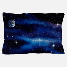 Earth and Milky Way Pillow Case