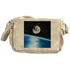 Earth and moon Messenger Bag