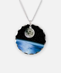 Earth and moon Necklace