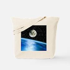 Earth and moon Tote Bag