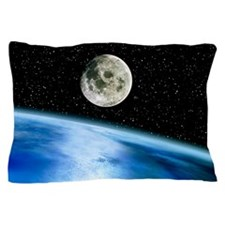 Earth and moon Pillow Case