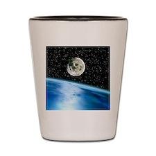 Earth and moon Shot Glass