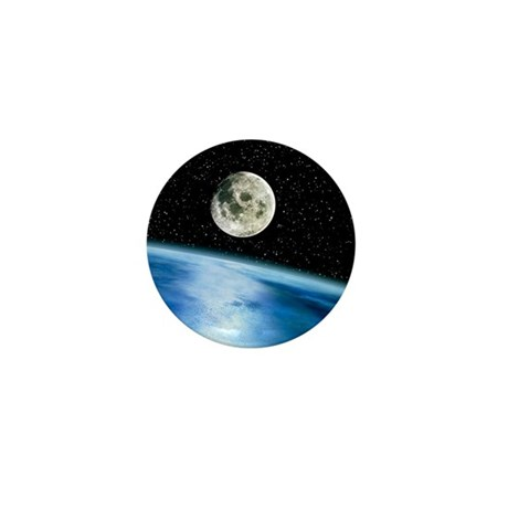 Earth and moon Mini Button