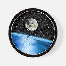 Earth and moon Wall Clock