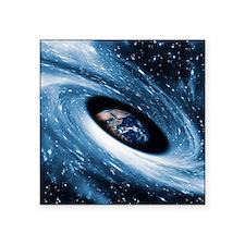 """Earth in a black hole, artw Square Sticker 3"""" x 3"""""""