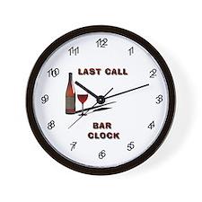 Last Call Bar Wall Clock