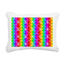 Rainbow Unicorn 04 Rectangular Canvas Pillow