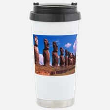 Easter Island statues Stainless Steel Travel Mug