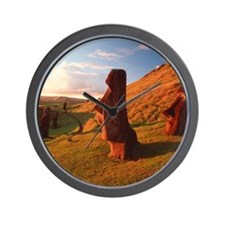 Easter Island statues Wall Clock