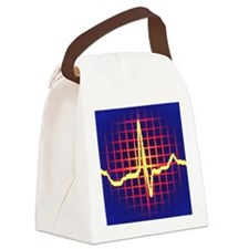 ECG trace Canvas Lunch Bag