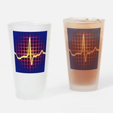 ECG trace Drinking Glass