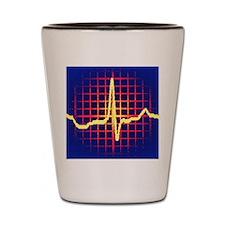ECG trace Shot Glass