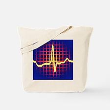 ECG trace Tote Bag