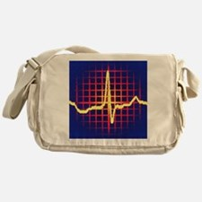 ECG trace Messenger Bag