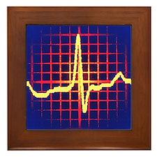 ECG trace Framed Tile