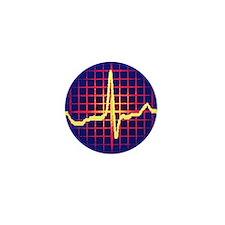 ECG trace Mini Button