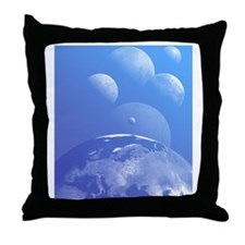 Earth and planets Throw Pillow