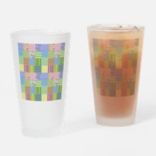 Cute Vintage quilt Drinking Glass