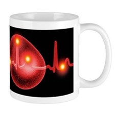ECG and red blood cell Small Mug