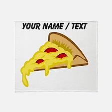 Custom Pizza Slice Throw Blanket
