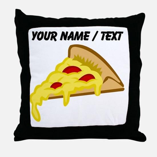 Custom Pizza Slice Throw Pillow