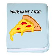 Custom Pizza Slice baby blanket