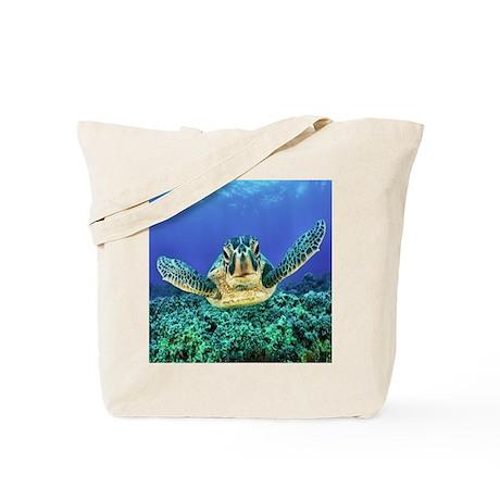 aquatic sea turtle Tote Bag