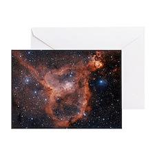 Emission nebula IC 1805 Greeting Card