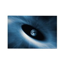 Earth in a black hole, artwork Rectangle Magnet