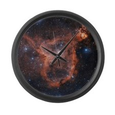 Emission nebula IC 1805 Large Wall Clock