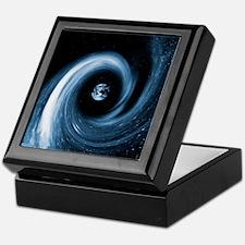 Earth in a black hole, artwork Keepsake Box