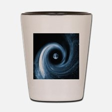 Earth in a black hole, artwork Shot Glass