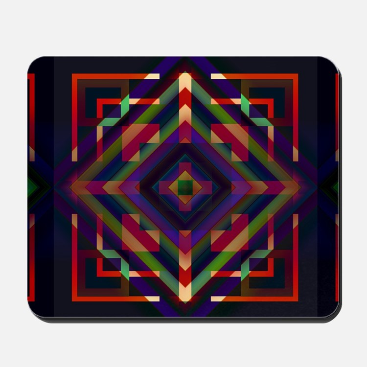 Geometric print Mousepad