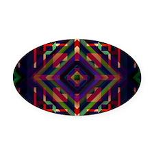 Geometric print Oval Car Magnet