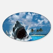 Shark Sticker (Oval)