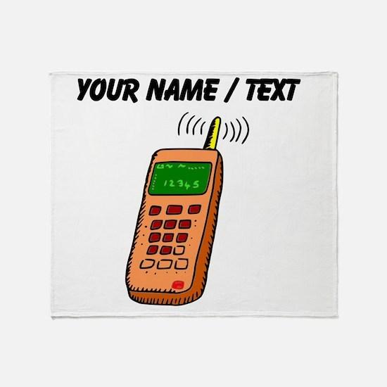 Custom Cartoon Cell Phone Throw Blanket
