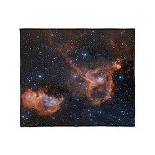 Emission nebulae IC 1848 and IC 1805 Throw Blanket