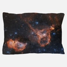 Emission nebulae IC 1848 and IC 1805 Pillow Case