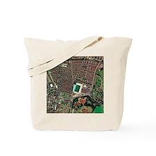 Everton's Goodison Park stadium, aerial Tote Bag