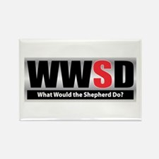WW the Shepherd D Rectangle Magnet