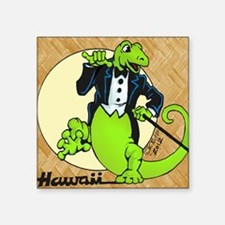"""Geckos with Style Square Sticker 3"""" x 3"""""""