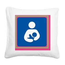Breastfeeding symbol 7b14 pin Square Canvas Pillow