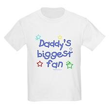 Daddy's Biggest Fan Kids T-Shirt