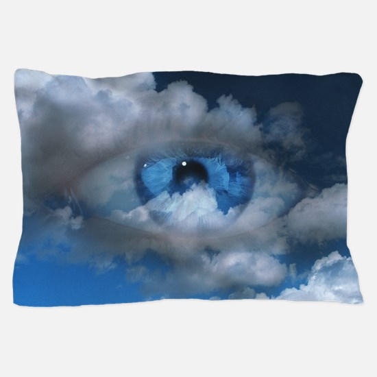 Eye and clouds Pillow Case