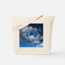 Eye and clouds Tote Bag