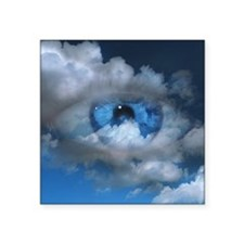 "Eye and clouds Square Sticker 3"" x 3"""