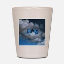 Eye and clouds Shot Glass
