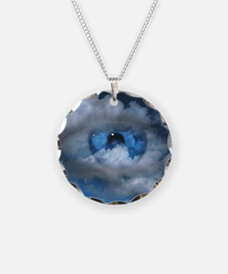 Eye and clouds Necklace